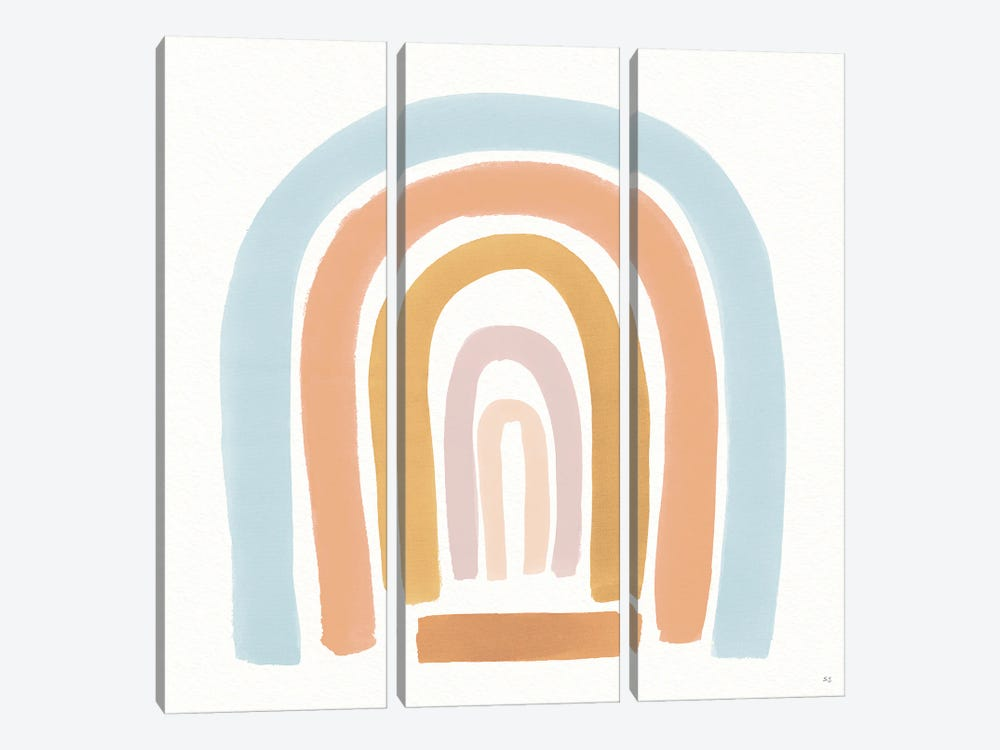 Curved Earth I by Susan Jill 3-piece Canvas Print