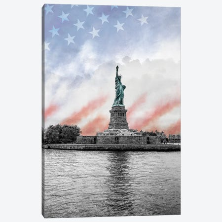 Statue of Liberty 3-Piece Canvas #SUS203} by Susan Jill Canvas Art Print