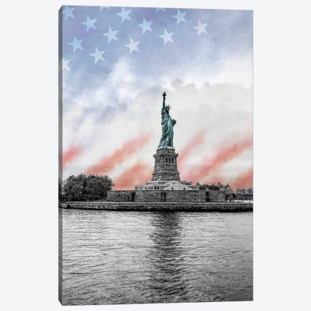 Statue of Liberty Canvas Print #SUS203} by Susan Jill Canvas Art Print