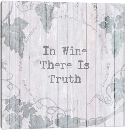 In Wine There Is Truth Canvas Art Print
