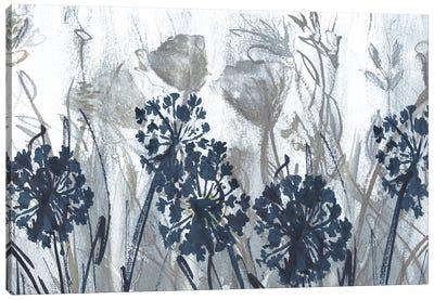Indigo Field Canvas Art Print