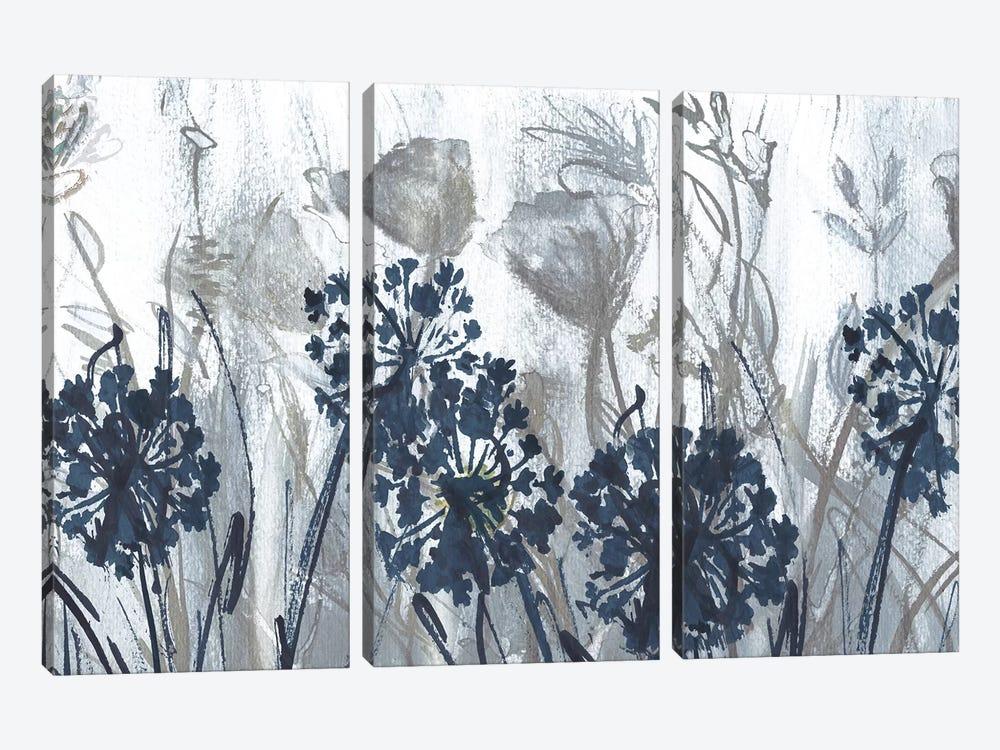 Indigo Field by Susan Jill 3-piece Canvas Art