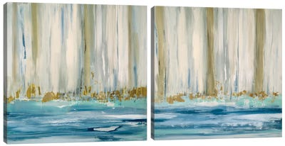 Mountain Water Diptych Canvas Art Print
