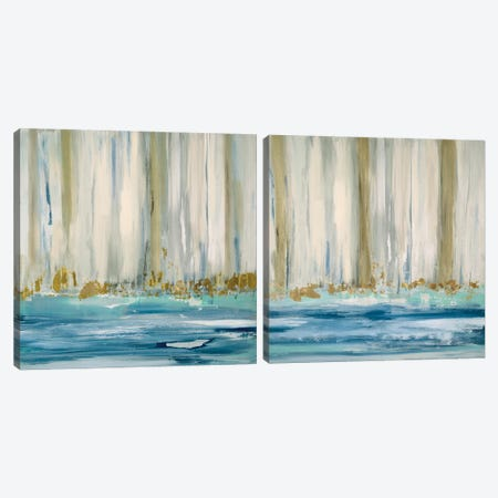 Mountain Water Diptych Canvas Print Set #SUS2HSET001} by Susan Jill Art Print