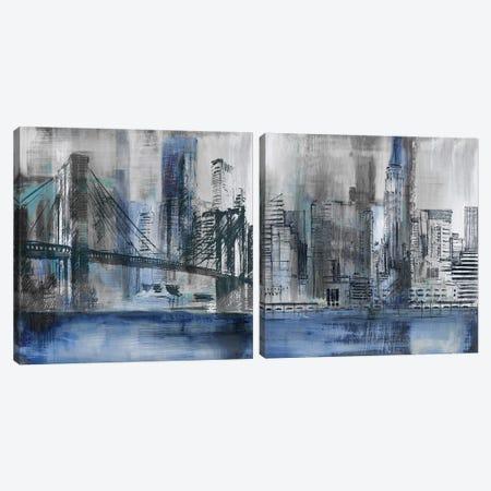 Brooklyn Bridge Diptych Canvas Print Set #SUS2HSET003} by Susan Jill Canvas Art Print