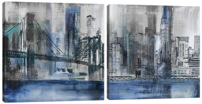 Brooklyn Bridge Diptych Canvas Art Print