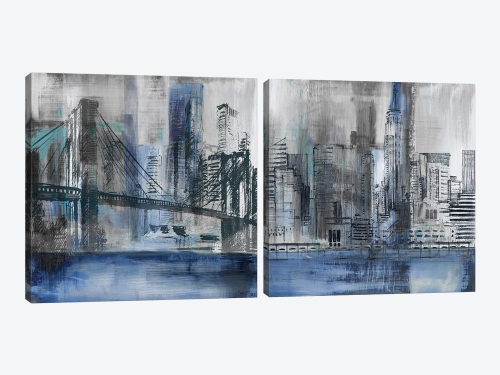 Brooklyn Bridge Diptych by Susan Jill 2-piece Canvas Art