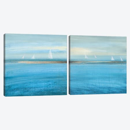 Waiting On The Wind Diptych Canvas Print Set #SUS2HSET005} by Susan Jill Canvas Art