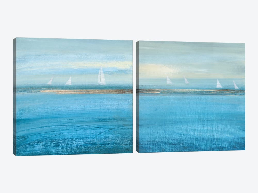 Waiting On The Wind Diptych by Susan Jill 2-piece Canvas Wall Art