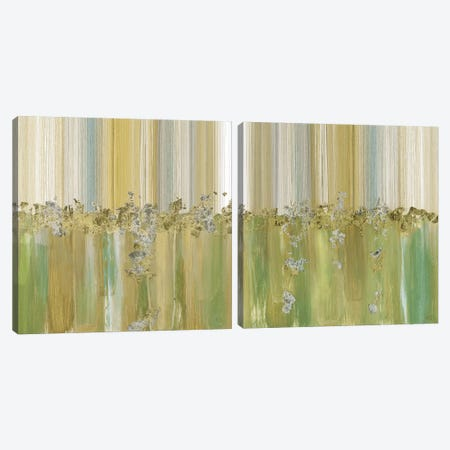 Morning Dew Diptych Canvas Print Set #SUS2HSET006} by Susan Jill Canvas Wall Art