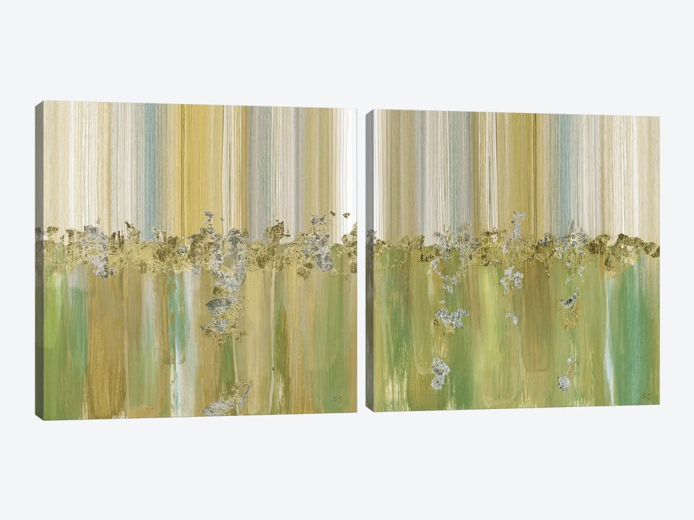 Morning Dew Diptych by Susan Jill 2-piece Canvas Art Print