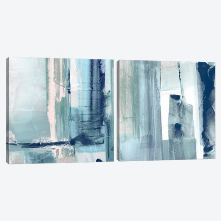 Miss The Sea Diptych I Canvas Print Set #SUS2HSET007} by Susan Jill Canvas Art