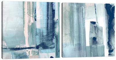 Miss The Sea Diptych I Canvas Art Print