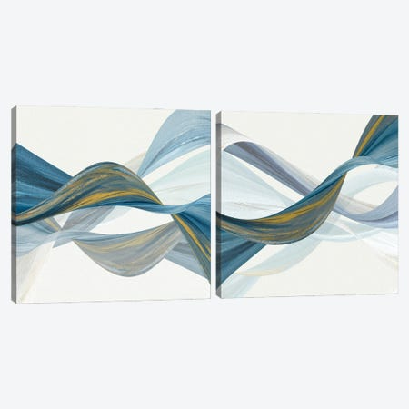 Changing Currents Diptych Canvas Print Set #SUS2HSET009} by Susan Jill Art Print