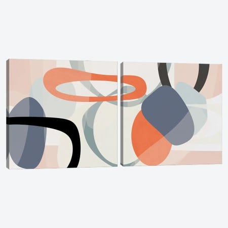 Floating on Silk Diptych II Canvas Print Set #SUS2HSET011} by Susan Jill Canvas Wall Art