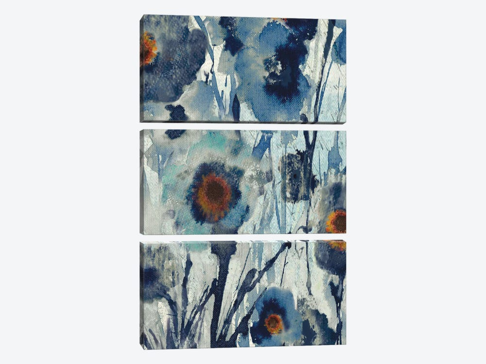 Forget Me Not II by Susan Jill 3-piece Canvas Artwork