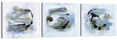 Cool Water Triptych Canvas Art Print