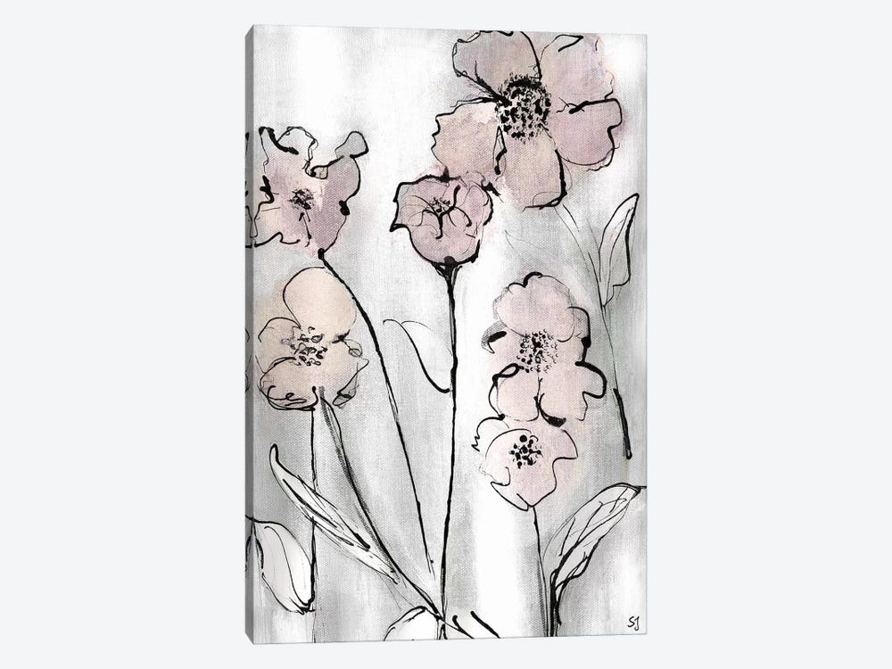 Wildflowers II by Susan Jill 1-piece Canvas Wall Art