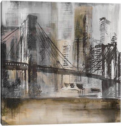 Brooklyn Bridge Twilight Canvas Art Print