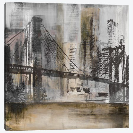 Brooklyn Bridge Twilight Canvas Print #SUS69} by Susan Jill Canvas Print