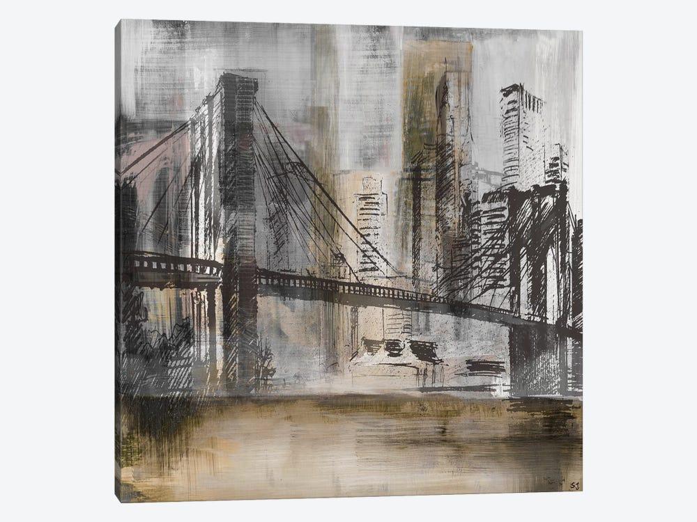 Brooklyn Bridge Twilight by Susan Jill 1-piece Canvas Wall Art