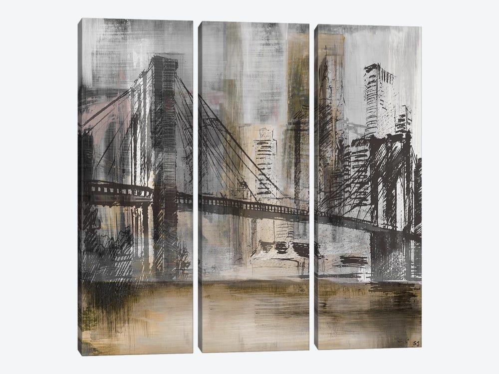Brooklyn Bridge Twilight by Susan Jill 3-piece Canvas Artwork