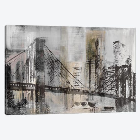 Brooklyn Bridge Twilight Detail Canvas Print #SUS70} by Susan Jill Canvas Artwork