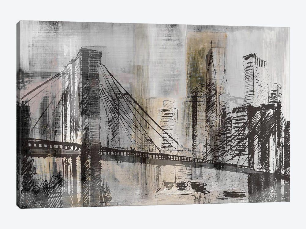 Brooklyn Bridge Twilight Detail by Susan Jill 1-piece Canvas Wall Art