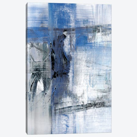 Reflections in Indigo 3-Piece Canvas #SUS91} by Susan Jill Canvas Artwork