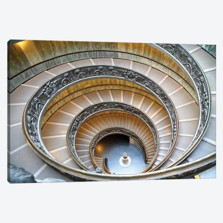 Vatican Staircase Canvas Print #SUV103} by Susan Vizvary Canvas Wall Art