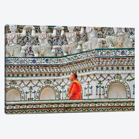 Walking Monk Canvas Print #SUV104} by Susan Vizvary Canvas Art Print
