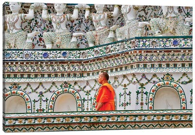 Walking Monk Canvas Art Print