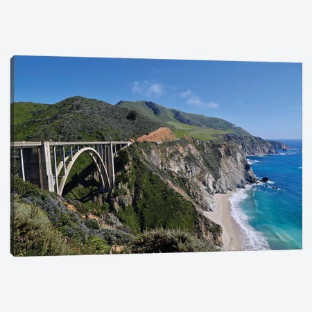 Bixby Bridge Canvas Print #SUV116} by Susan Vizvary Canvas Wall Art