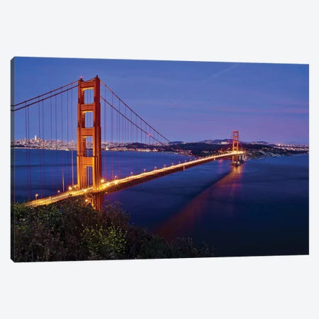 Golden Gate Sunset Canvas Print #SUV127} by Susan Vizvary Canvas Print