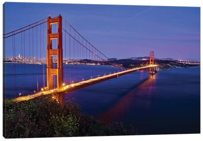 Golden Gate Sunset Canvas Art Print