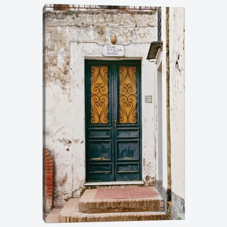 Italian Door No 12 Canvas Print #SUV133} by Susan Vizvary Art Print