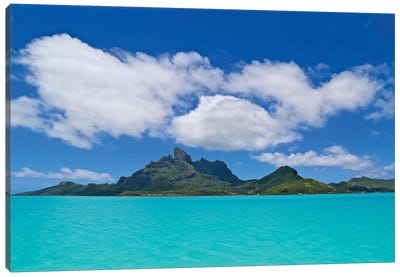 Love Over Bora Bora Canvas Art Print