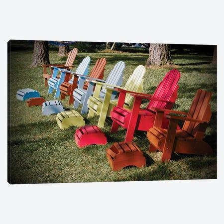 7 Chairs Canvas Print #SUV168} by Susan Vizvary Canvas Art