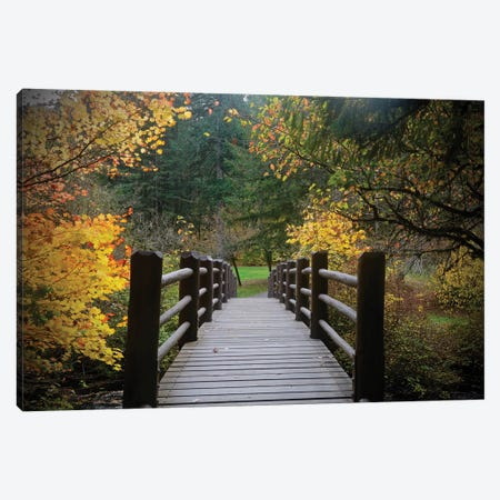 Autumn's Bridge I Canvas Print #SUV171} by Susan Vizvary Canvas Art Print