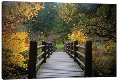 Autumn's Bridge I Canvas Art Print