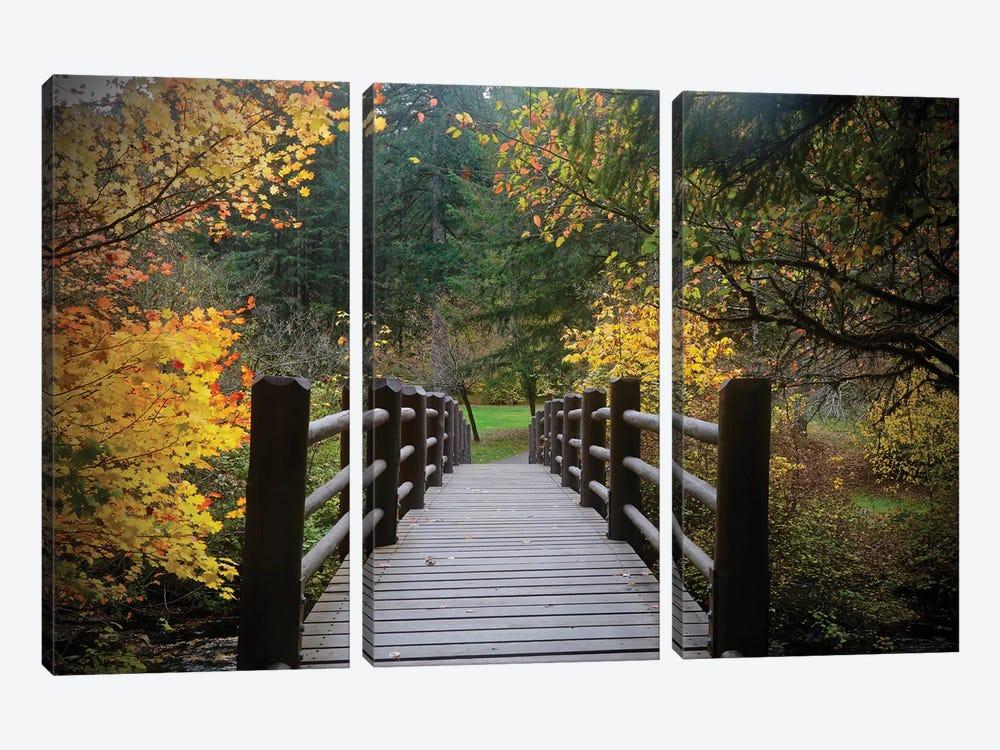 Autumn's Bridge I by Susan Vizvary 3-piece Canvas Print