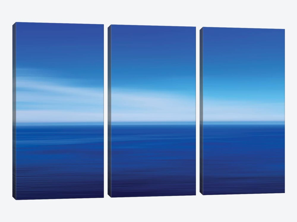 Big Sur Ocean Blur II by Susan Vizvary 3-piece Canvas Artwork