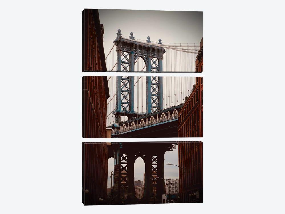 Brooklyn Bridge In Color by Susan Vizvary 3-piece Canvas Art