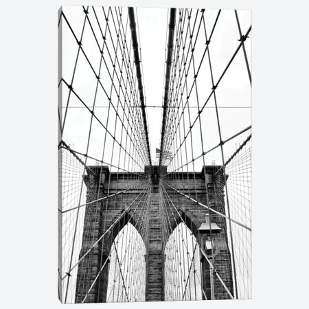 Brooklyn Bridge With Flag I Canvas Print #SUV177} by Susan Vizvary Canvas Art