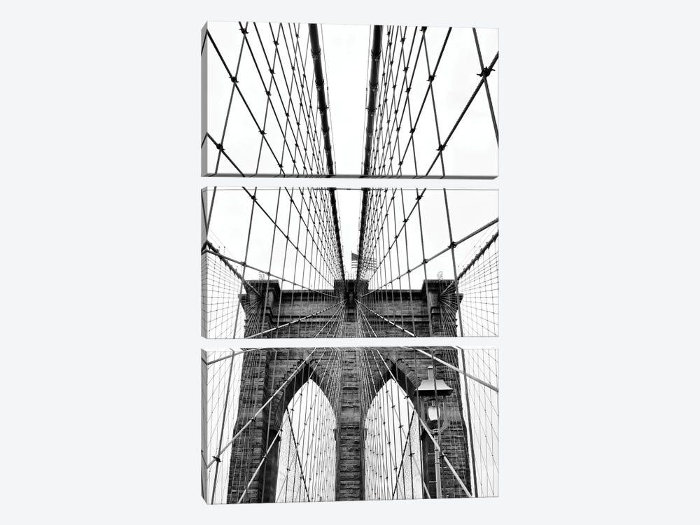 Brooklyn Bridge With Flag I by Susan Vizvary 3-piece Art Print