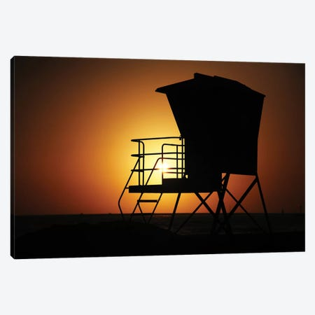 Lifeguard Sunset Canvas Print #SUV185} by Susan Vizvary Canvas Art Print