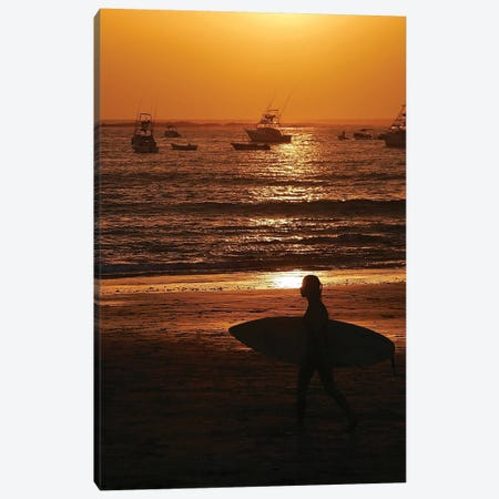 Surfer At Sunset Canvas Print #SUV192} by Susan Vizvary Canvas Art Print