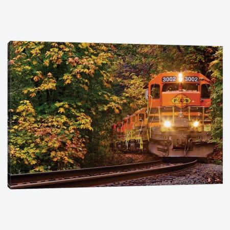 Trains Coming Canvas Print #SUV194} by Susan Vizvary Canvas Wall Art