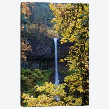 Waterfall Through The Trees I Canvas Print #SUV196} by Susan Vizvary Canvas Wall Art