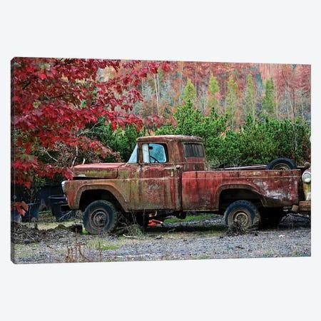 Autumn Vintage Truck 3-Piece Canvas #SUV203} by Susan Vizvary Canvas Art Print